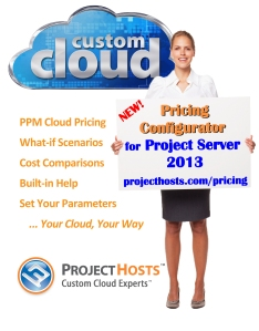 Configurador de Precios Micorsoft Project Server 2013 Custom Cloud en Projecthosts.com/pricing