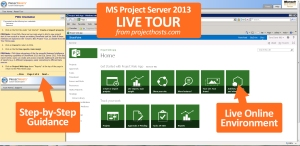 Free 7-day Tours provide a live Project Server 2013 experience.