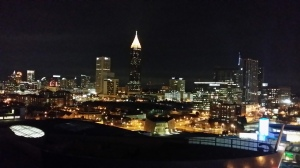 "The view of Atlanta's Skyline from the ADX Studio ""Geek"" Rooftop Party"